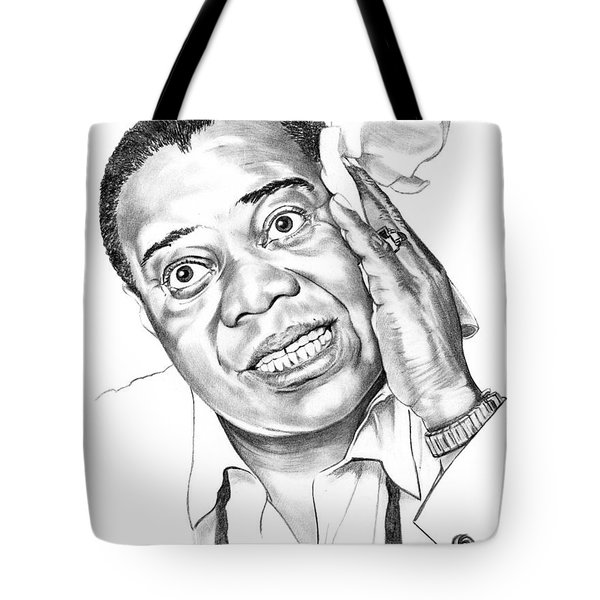 Louis Satchmo Armstrong Tote Bag by Murphy Elliott