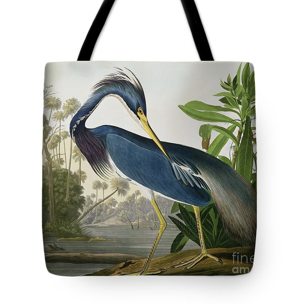 Louisiana Heron Tote Bag by John James Audubon
