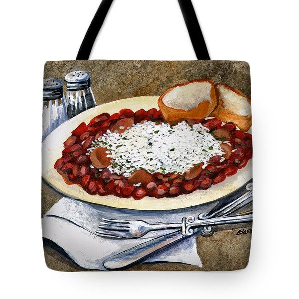 Louisiana Red Beans And Rice Tote Bag by Elaine Hodges