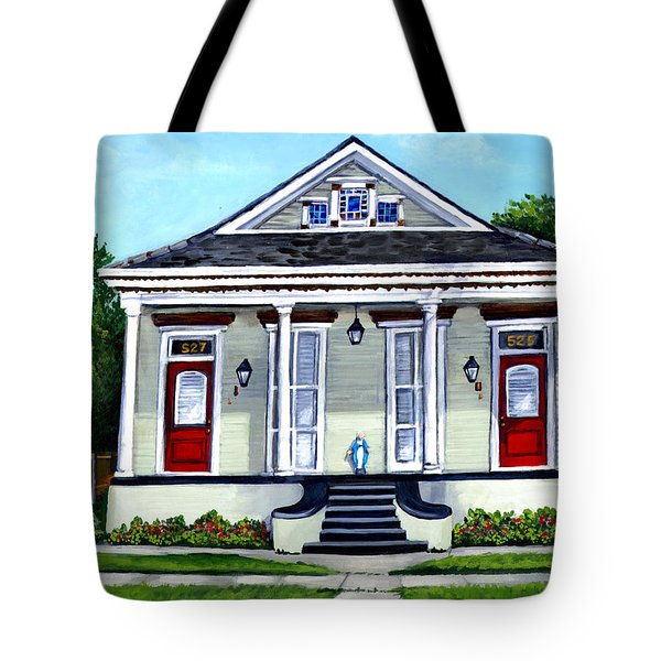 Louisiana Shotgun Double Tote Bag by Elaine Hodges