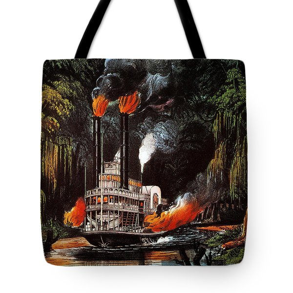 Louisiana: Steamboat, 1865 Tote Bag by Granger