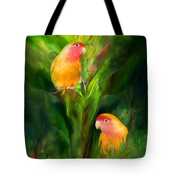 Love Among The Bananas Tote Bag by Carol Cavalaris