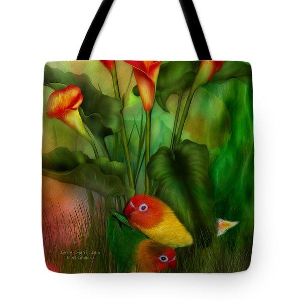 Love Among The Lilies  Tote Bag by Carol Cavalaris