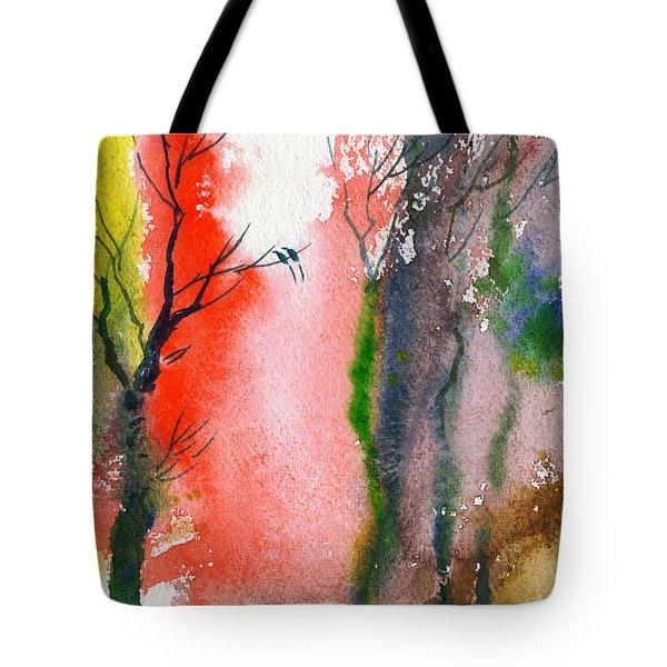 Love Birds 2 Tote Bag by Anil Nene