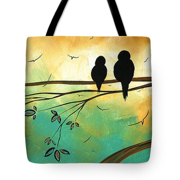 Love Birds by MADART Tote Bag by Megan Duncanson
