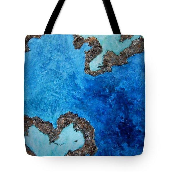 Love Heart Reef Tote Bag by Georgia  Mansur
