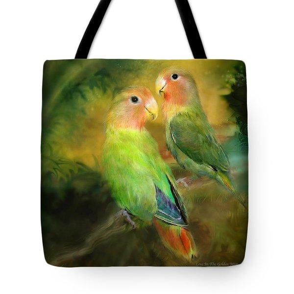 Love In The Golden Mist Tote Bag by Carol Cavalaris
