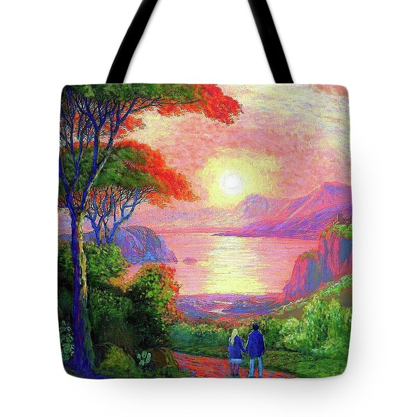 Love Is Sharing The Journey Tote Bag by Jane Small