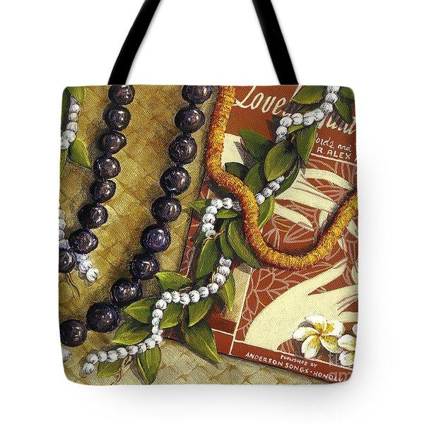 Lovely Hula Hands Tote Bag by Sandra Blazel - Printscapes