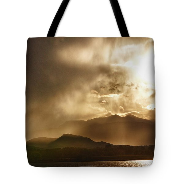 Low Clouds On The Colorado Rocky Mountain Foothills Tote Bag by James BO  Insogna