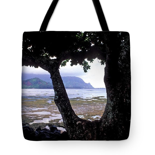 Low Tide And The Tree Tote Bag by Kathy Yates
