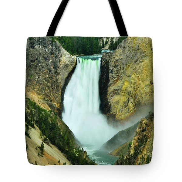Lower Falls No Border Or Caption Tote Bag by Greg Norrell