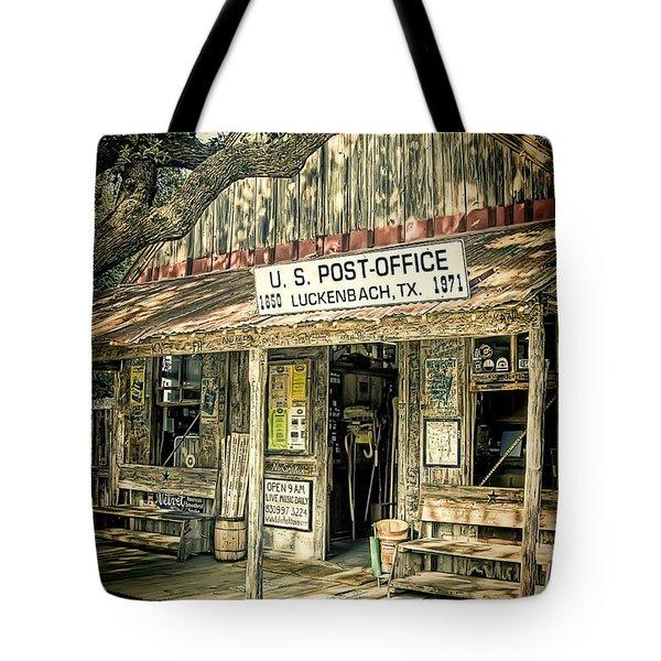 Luckenbach Tx Tote Bag by Scott Norris