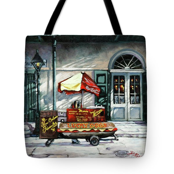 Lucky Dogs Tote Bag by Dianne Parks