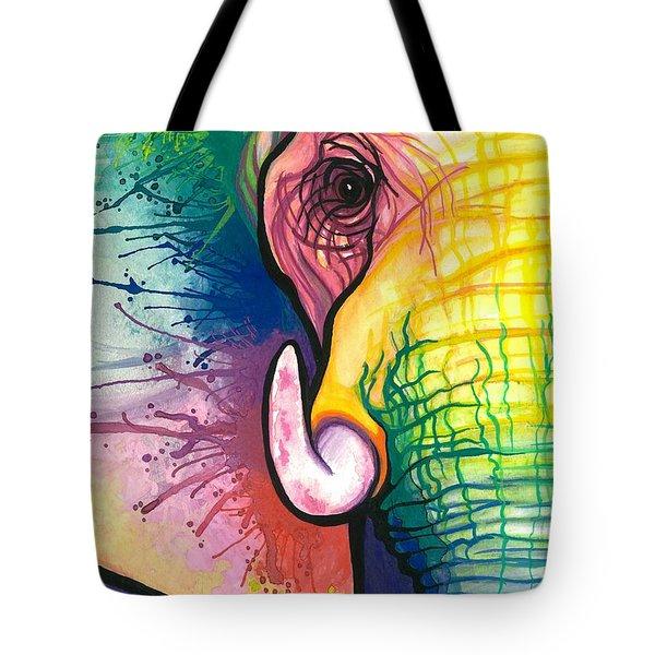 Lucky Elephant Spirit Tote Bag by Sarah Jane