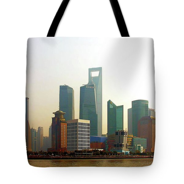 Lujiazui - Pudong Shanghai Tote Bag by Christine Till
