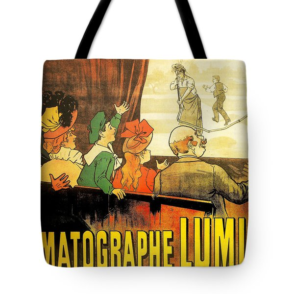 Lumiere Cinematographe Tote Bag by Georgia Fowler
