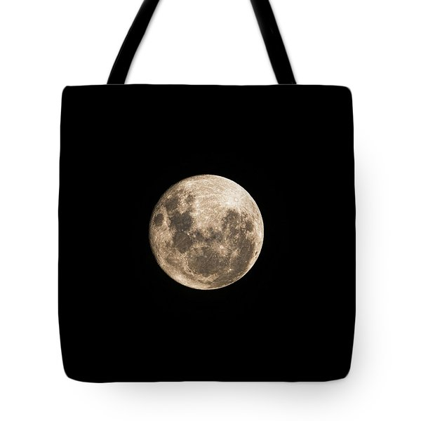 Lunar Perigee Tote Bag by Andrew Paranavitana
