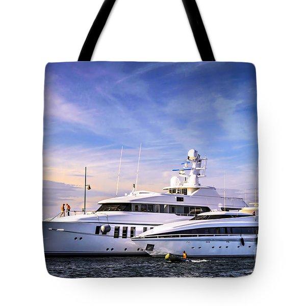 Luxury yachts Tote Bag by Elena Elisseeva