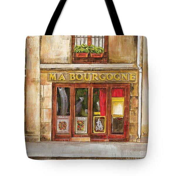 Ma Bourgogne Tote Bag by Debbie DeWitt
