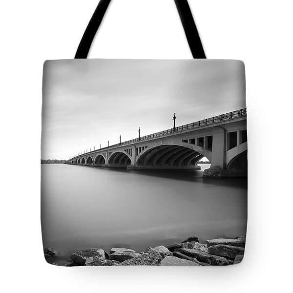 Macarthur Bridge To Belle Isle Detroit Michigan Tote Bag by Gordon Dean II