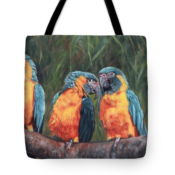 Macaws Tote Bag by David Stribbling