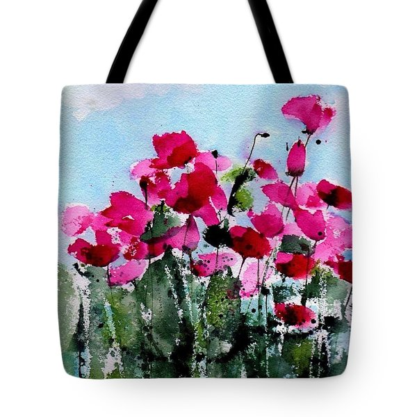 Maddy's Poppies Tote Bag by Anne Duke