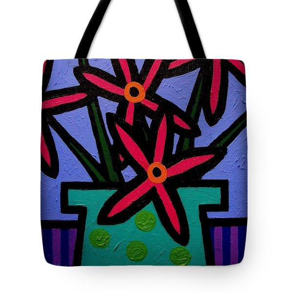Magenta Flowers Tote Bag by John  Nolan