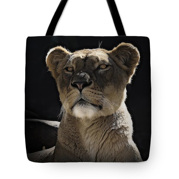 Magnificent Lioness Tote Bag by Sheila Smart
