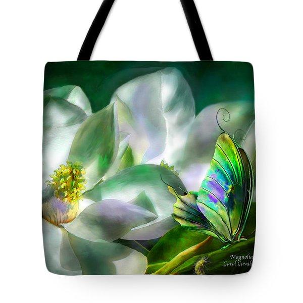 Magnolia Tote Bag by Carol Cavalaris