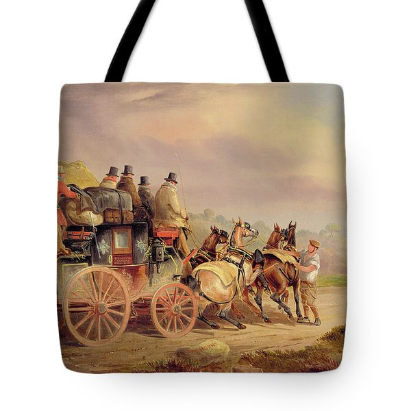 Mail Coaches On The Road - The 'quicksilver'  Tote Bag by Charles Cooper Henderson