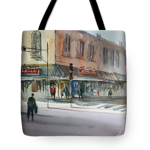 Main Street Marketplace - Waupaca Tote Bag by Ryan Radke