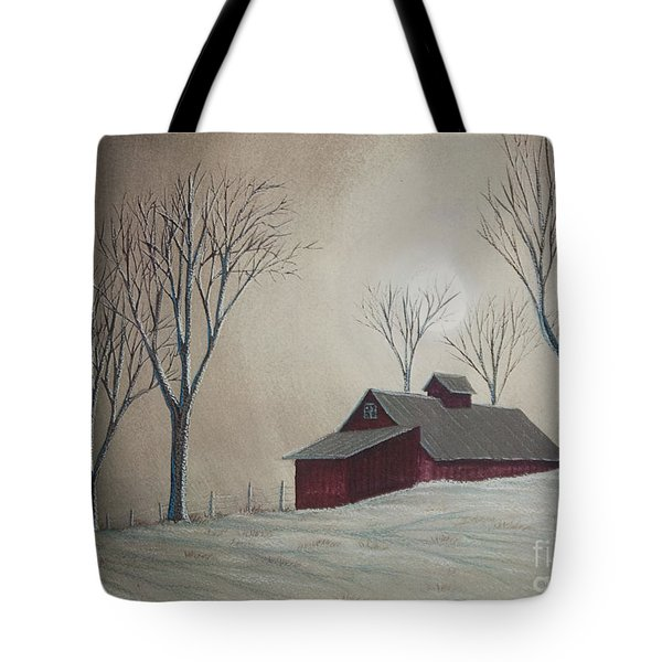 Majestic Winter Night Tote Bag by Charlotte Blanchard