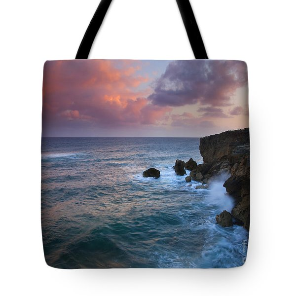 Makewehi Sunset Tote Bag by Mike  Dawson