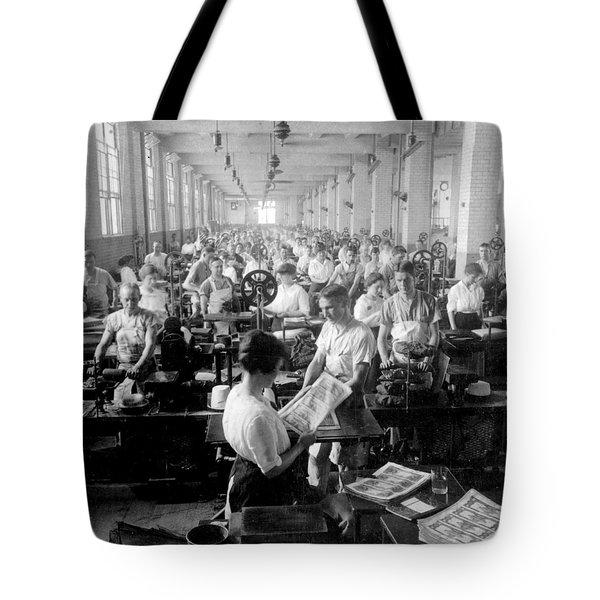 Making Money At The Bureau Of Printing And Engraving - Washington Dc - C 1916 Tote Bag by International  Images