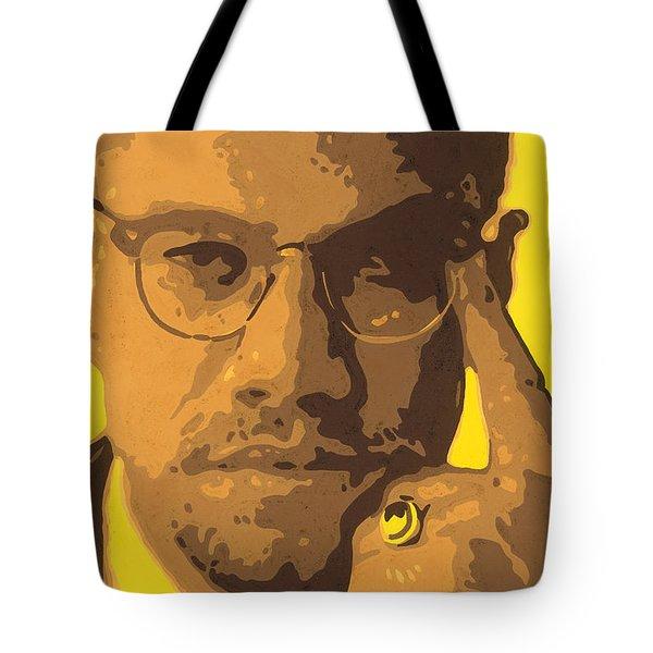 Malcolm El Afroxicano Tote Bag by Roberto Valdes Sanchez