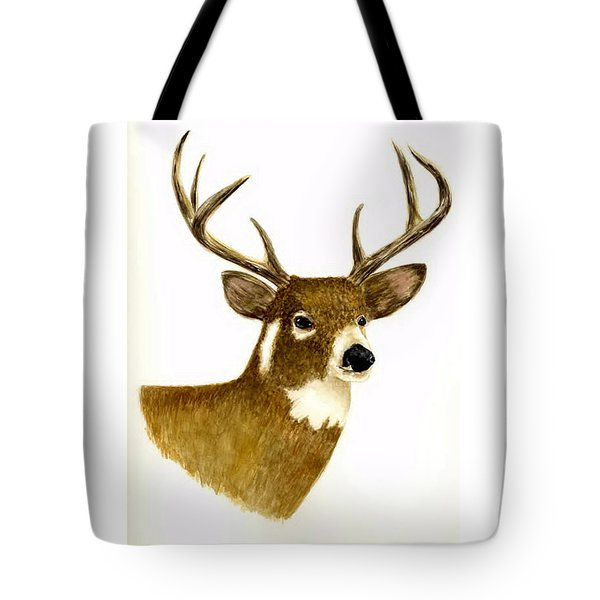 Male Deer Tote Bag by Michael Vigliotti