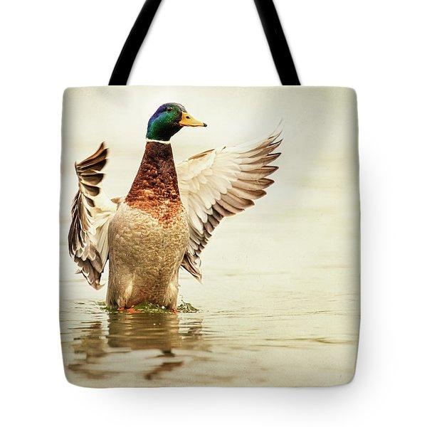 Mallard Tote Bag by Everet Regal