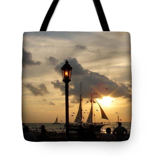 Mallory Square Key West Tote Bag by Susanne Van Hulst