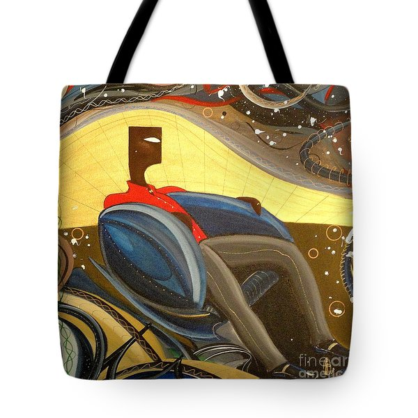 Man In Chair 2 Tote Bag by John Lyes