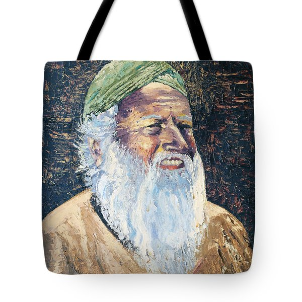 Man In The Green Turban Tote Bag by Arline Wagner