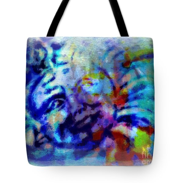 Man In The Moon Tote Bag by WBK