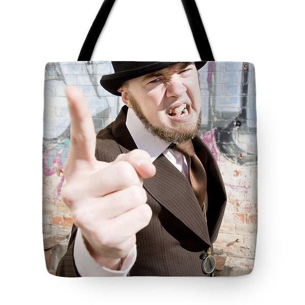 Man Making A Point Tote Bag by Ryan Jorgensen
