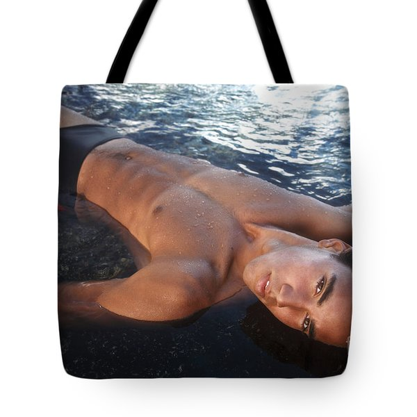 Man Of The Tides Tote Bag by Brandon Tabiolo - Printscapes