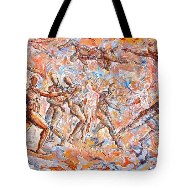 Man Unaware Of His Own Karma Tote Bag by Darwin Leon