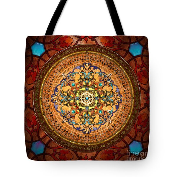 Mandala Arabia Tote Bag by Bedros Awak