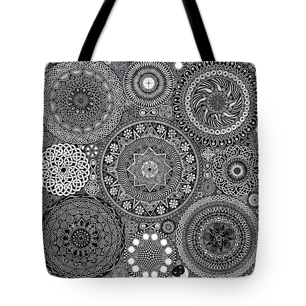 Mandala Bouquet Tote Bag by Matthew Ridgway
