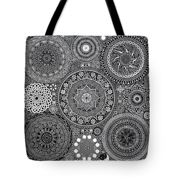 Mandala Bouquet Tote Bag by Matthew Ridgway
