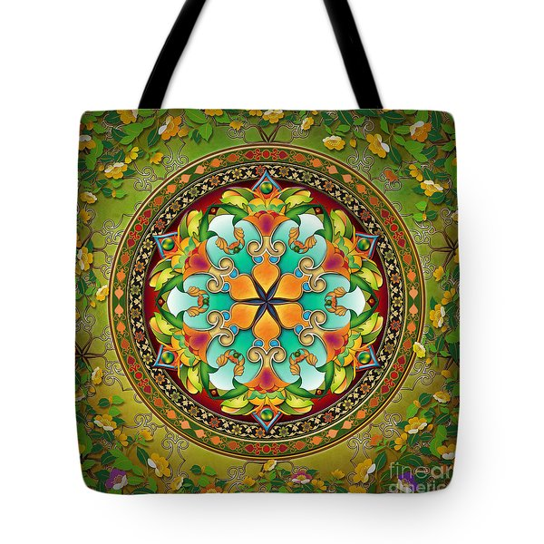 Mandala Evergreen Tote Bag by Bedros Awak