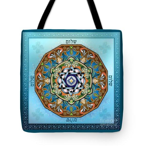Mandala Shalom Tote Bag by Bedros Awak